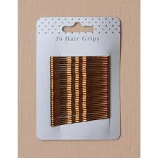 hair grips grips 36 metallic brown 55mm kirby grip high quality with epoxy