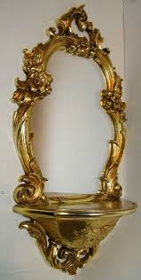 home interiors mirrors homco syroco home interior wall decor mirror shelf gold scroll