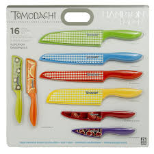 amazon com hampton forge 16 piece tomodachi prints cutlery set amazon com hampton forge 16 piece tomodachi prints cutlery set kitchen dining