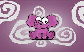 elephant pink cartoon 6929961