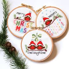 love these christmas ornaments set of 3 cute festive robin