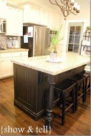 black kitchen island with stools a kitchen island remodel several years in the but the