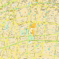Map Of Merida Mexico by Download Mexico City Street Map Major Tourist Attractions Maps