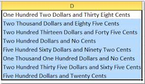 how to spell out or convert numbers to english words in excel