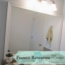 bathroom rustic framed mirror ideas bathroom white framed large mirror with lighting fixtures how frame