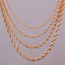 golden rope necklace images Gold rope chain necklace clipart jpg