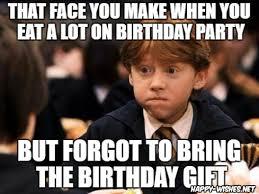 Birthday Gift Meme - 15 harry potter funny birthday meme happy wishes