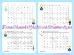 printable frozen images free printable frozen themed alphabet and number mazes