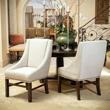 dining chairs baxton studio harrowgate dark gray linen modern