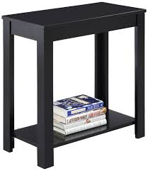 amazon com crown mark pierce side table black kitchen u0026 dining