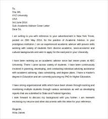 student advisor cover letter amazing academic advising cover
