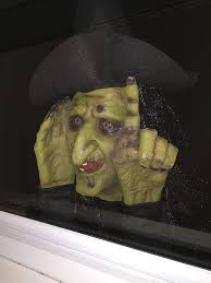amazon com halloween decoration tapping witch scary peeper