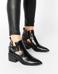 asos relish cut out pointed ankle boots shoes
