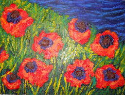 Poppy Home Decor by Art Painting Wall Decor Flower Painting Poppy Art Poppy Painting