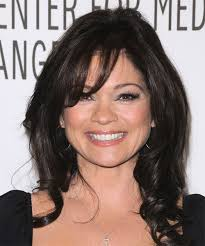 how to get valerie bertinelli current hairstyle valerie bertinelli long wavy casual hairstyle with layered bangs black