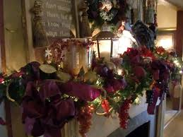 fireplace inspiring christmas mantel decorations with garland