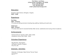 high resumes with no job experience free resume templates for highschool students with no experience