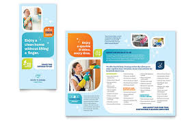 cleaning services brochure template word u0026 publisher