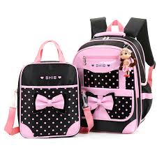 book bags with bows 2pcs set bow school bags backpack tote bag for