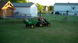 the kids on the riding lawn mower youtube