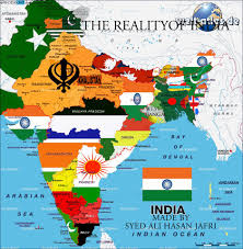 Map Of India And Pakistan by Showing Iok Kashmir In Pakistan And Arunachal Pradesh In China