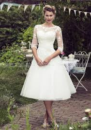 wedding dresses uk a line princess bateau tea length tulle wedding dress with appliqued