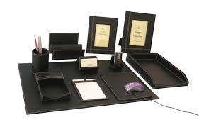 Desk Top Accessories Sell Faux Leather Desktop Accessories Set Manufacturer Supplier