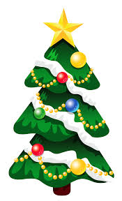 transparent snowy deco xmas tree with star png clipart gallery