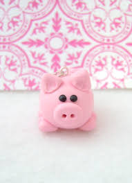 handmade polymer clay pig ornament