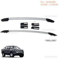 aluminum real roof rack bar fit ford ranger t6 mk2 xlt px ute