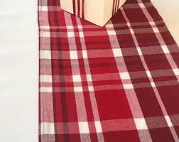 red and white table runner winter table runner christmas table runner plaid flannel