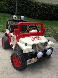 barbie jeep power wheels countdown to jurassic world power wheels jeep modified into a