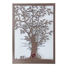 wedding invitations laser cut rustic tree wedding invitation laser cut tree
