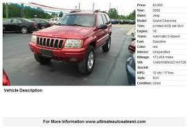 2002 jeep grand laredo mpg used jeep grand 5 000 in ohio for sale used