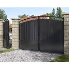 portail pour maison pas cher clôture grillage brise vue portail et portillon castorama