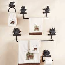 Bear Bathroom Accessories by Rustic Towel Bars And Lodge Bathroom Accessories