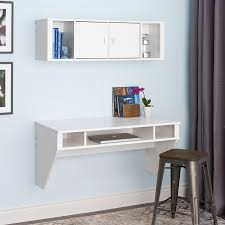 White Desk With Hutch by Amazon Com Wall Mounted Designer Floating Desk In White Kitchen