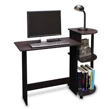 Small Wood Desk by Small Black Wooden Desk With End Unit And Reading Lamp Elegant