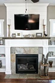 fireplace mantel ideas pictures images with tv above diy faux