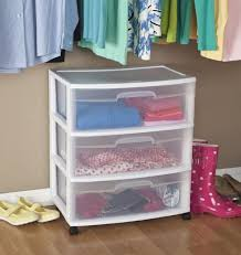 3 Bin Cabinet Rolling Storage Cart 3 Drawer Organizer Bin Plastic Cabinet Box