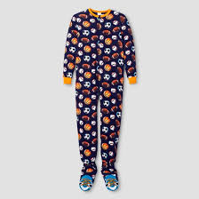 boys footed pajamas cat blue target