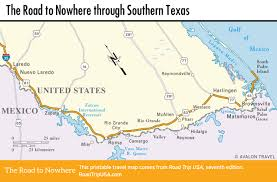 South Padre Island Map The Road To Nowhere Through Texas Road Trip Usa