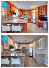 cuisine avant apres réalisation avant après kitchens armoires and decoration