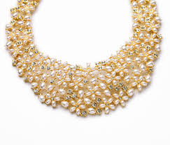 crystal pearl necklace set images Famous brand latest design gold crystal pearl necklace costume jpg