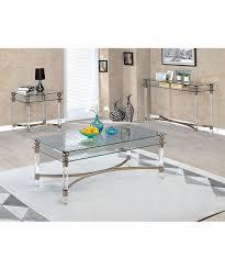 Glass And Metal Sofa Table Serendipity Gold Leoa Metal U0026 Glass Sofa Table Zulily