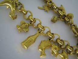 gold charm link bracelet images 9ct yellow gold belcher link charm bracelet with charms gordon JPG