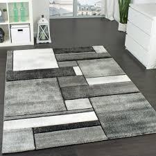 wohnzimmer modern grau designer teppich kariert wohnzimmer teppich modern trendig meliert