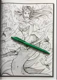 mermaids coloring book mystical island goddesses