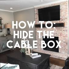 wall mounted tv hiding cables how to hide the cable box cable box cable and box