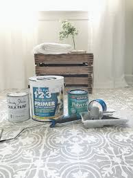 how to paint your linoleum or tile floors to look like patterned cement tiles full tutorial